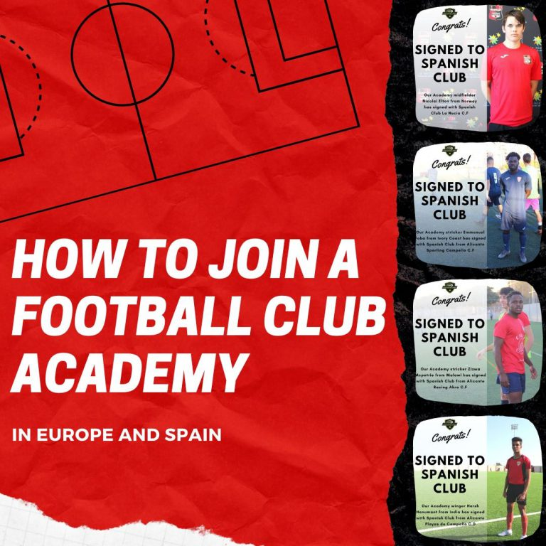 How to join a football academy in Spain