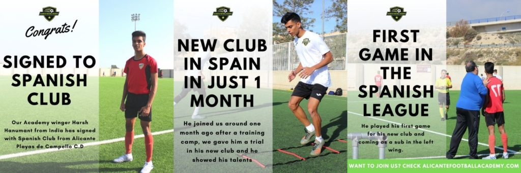 Indian player signing for football academy in spain