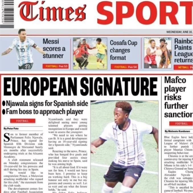 football academy in spain in newspaper magazine