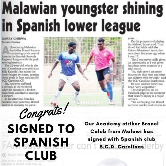 alicante football academy player appearing in newspaper in spain