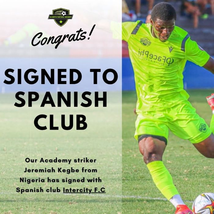 football academy in spain player signed with pro club in spain in a game