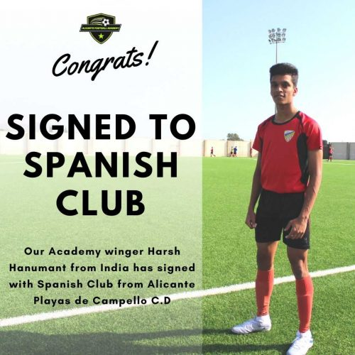 Alicante football academy player success story