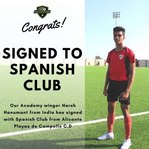 Alicante football academy player success story