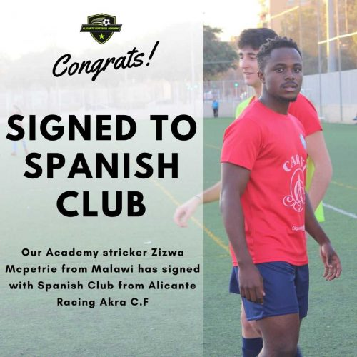 Alicante football academy player playing for club in spain