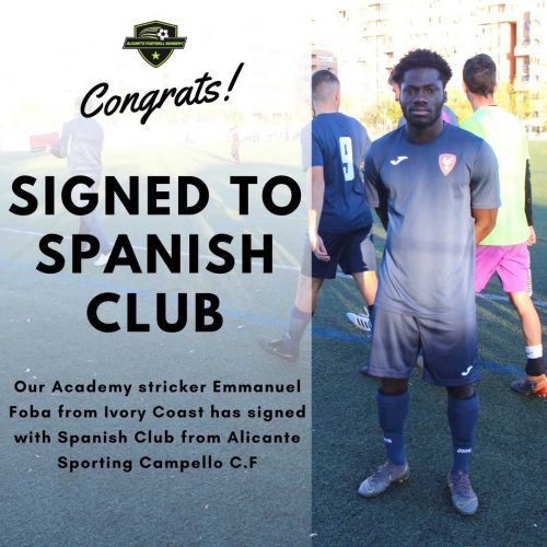 Alicante football academy player signed in spanish club