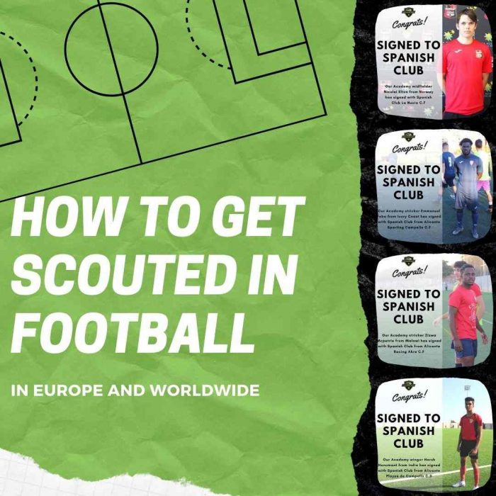 how to get scouted in football and europe