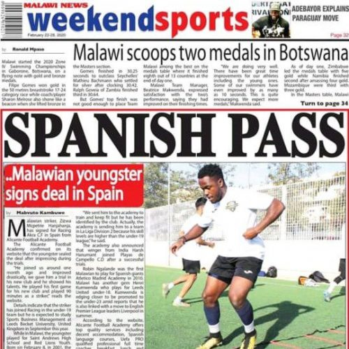 Soccer academy player in spain in newspaper